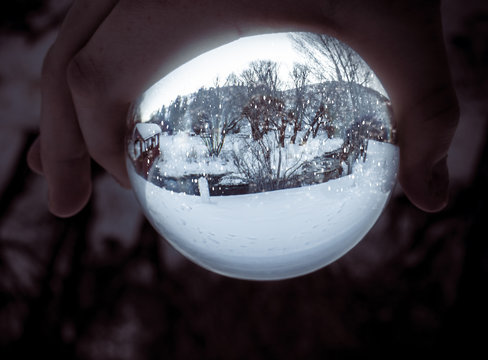 Real-Life Snow Globe