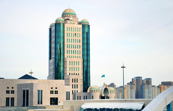 Glass buildings in Astana city