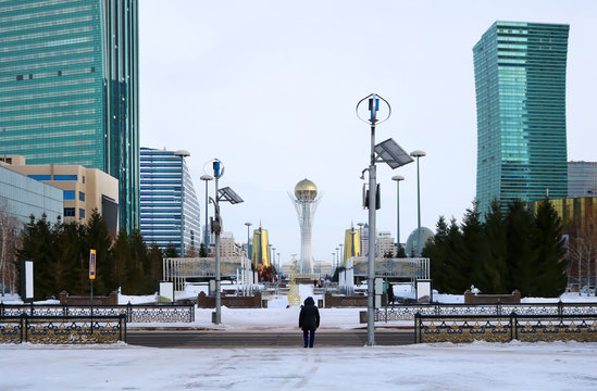 Central alley in Astana city