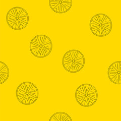 Nahtloses Muster aus Zitronen. Vektordatei EPS 10