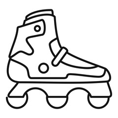 Indoor inline skates icon. Outline indoor inline skates vector icon for web design isolated on white background