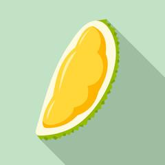 Fresh piece of durian icon. Flat illustration of fresh piece of durian vector icon for web design