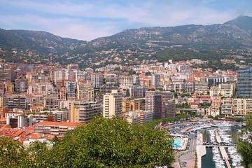 Mountains and cityscape of Monaco lazure coast
