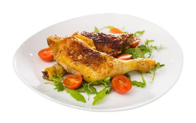 Tasty fried chicken legs