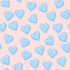 Abstract seamless pattern of hearts. Image for a poster or cover. Vector illustration. Repeating texture. Figure for textiles.