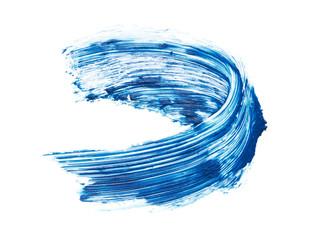 Texture of blue mascara for eyelashes