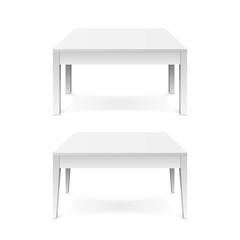 White office table with shadow isolated on white background. Vector illustration