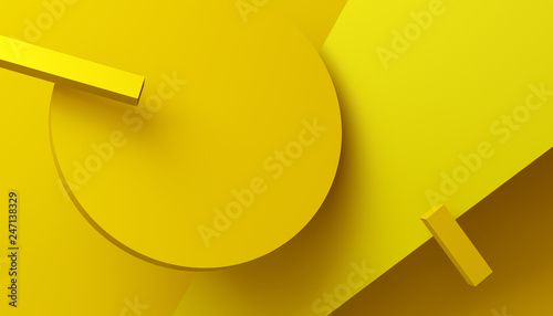 Abstract 3d Render Background With Geometric Shapes Modern