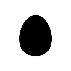 Flat line monochrome egg silhouette for web sites and apps. Minimal simple black and white egg silhouette. Isolated vector black egg silhouette on white background.