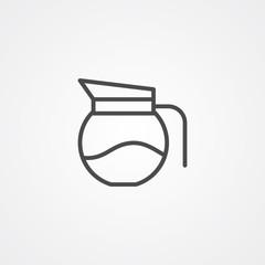 Coffee pot vector icon sign symbol