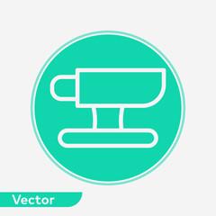 Anvil vector icon sign symbol
