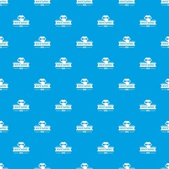Festival rock music pattern vector seamless blue repeat for any use