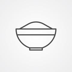 Bowl vector icon sign symbol