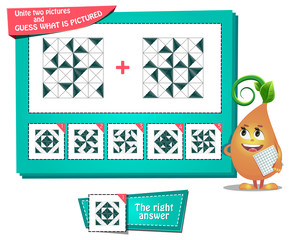 iq educational game two pictures
