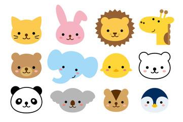 Obraz 幼稚園の組にありそうな動物達 - fototapety do salonu