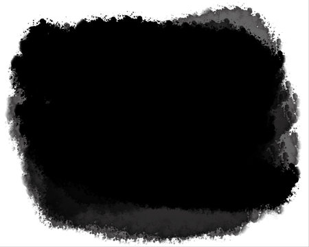 Watercolor Decorative Black & White Edge. Type Text Inside, Use as Overlay or for Layer Mask