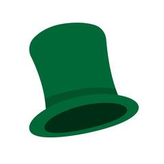 Leprechaun cylinder hat. Vector illustration.