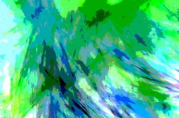 Green White abstract texture. Fantasy fractal texture. Digital art. 3D rendering. Computer generated image.