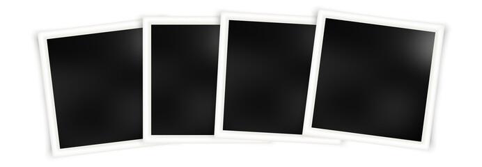 Set of photo frame templates