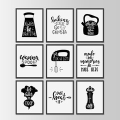 Custom vertical slats for kitchen with your photo Happy kitchen drawn typography poster. Conceptual handwritten phrase Home and Family T shirt hand lettered calligraphic design.