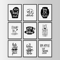 Lamas personalizadas con tu foto Happy kitchen drawn typography poster. Conceptual handwritten phrase Home and Family T shirt hand lettered calligraphic design.