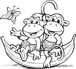 Małpki na bananie