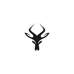deer head icon, silhouette graphic logo template. vector icon.