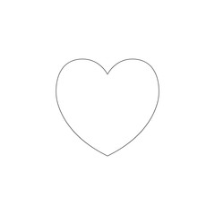 heart. flat vector icon