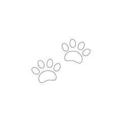 Paw Print. flat vector icon