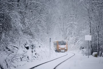 Railway in winter