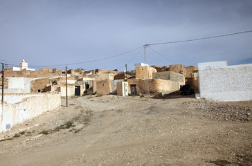 An Arab village of Matmata in Southern Tunisia in Africa