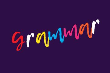 Grammar letter on light background