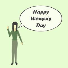 International Women's Day 8 March illustration