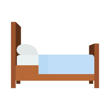 Bed emoji vector