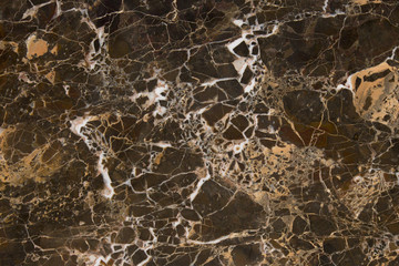 Closeup brown marble with natural pattern texture background.