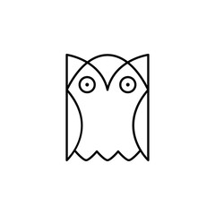 owl, bird, education icon. Element of education illustration. Signs and symbols can be used for web, logo, mobile app, UI, UX