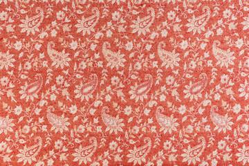Beautiful oriental fabric background. Traditional Arabic pattern on fabric.