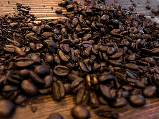 Close up shot coffee beans.