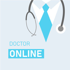 Medical background with doctor close up.