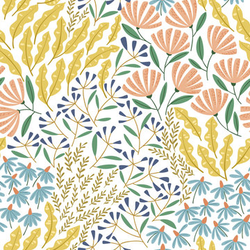 Cute spring seamless pattern
