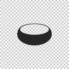 Bowl icon isolated on transparent background. Flat design. Vector Illustration
