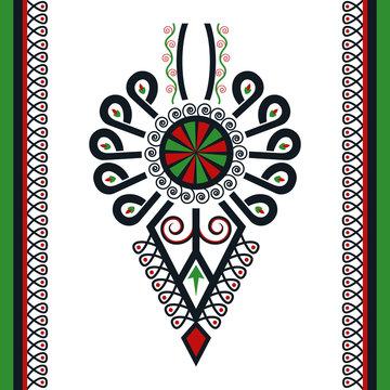 Polski folklor - kolorowa parzenica z ramką