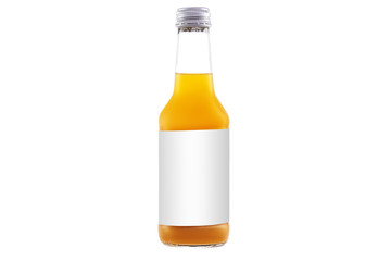 Juice organic smoothie in a bottle isolated with clipping path on white