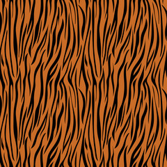 Tiger Print Seamless Pattern - Wild animal print pattern design