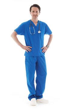 Full length portrait of doctor
