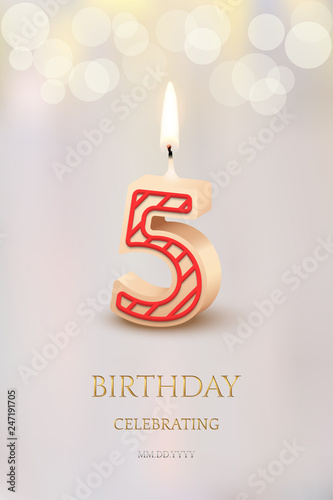 Burning Number 10 Birthday Candles With Celebration Text On Light Blurred Background And Candle Set For Other Dates