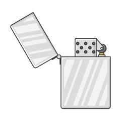 Icon open lighter. Vector illustration on white background