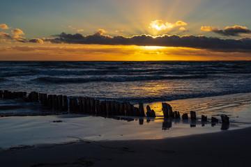 Fototapete - Ostseeküste auf der Insel Moen in Dänemark