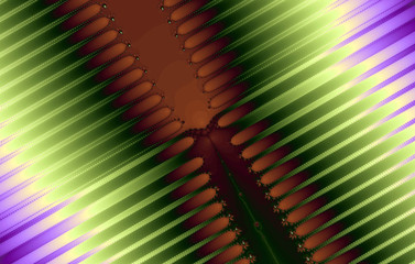 Fractal image: glowing colored stripes and lines.