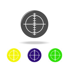 aim, weapon colored icons. Element of military illustration. Signs and symbols can be used for web, logo, mobile app, UI, UX